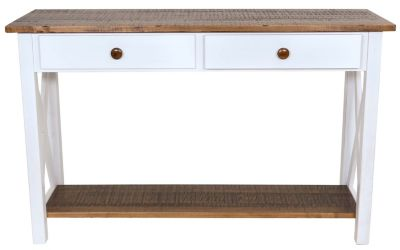 Woodco Solid Wood Sofa Table with Drawer