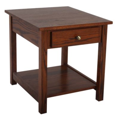 Woodco Loft Solid Wood End Table with Drawer