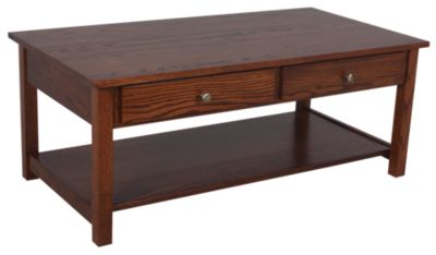 Woodco Loft Solid Wood Coffee Table w/Drawer & Casters