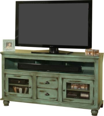 Whalen Llc Hampton Cottage Green 60-Inch TV Stand