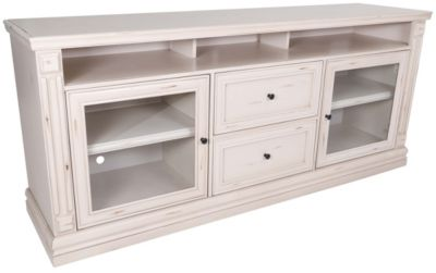 Whalen Llc Churchill 76-Inch White TV Stand