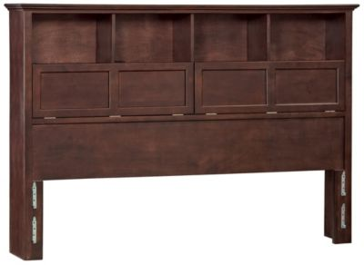 Whittier Wood McKenzie King Bookcase Headboard