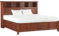 Whittier Wood McKenzie King Bookcase Storage Bed