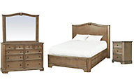 Whittier Wood Stonewood 4-Piece Queen Bedroom Set