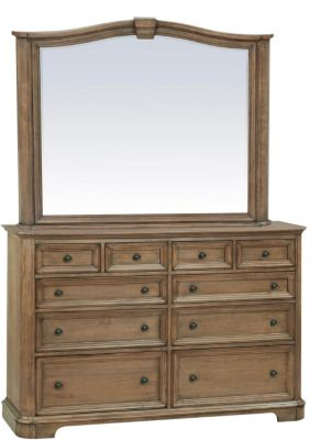 Whittier Wood Stonewood Dresser with Mirror