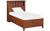 Whittier Wood McKenzie Twin Bookcase Storage Bed
