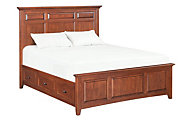 Whittier Wood McKenzie Queen Mantel Storage Bed