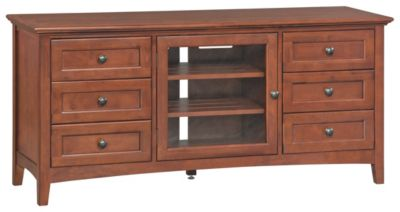 Whittier Wood McKenzie Tall 64-Inch Cherry Media Console