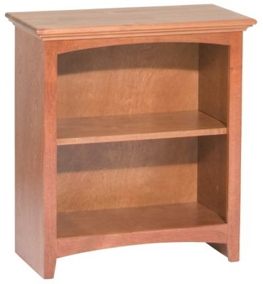 Whittier Wood Mckenzie 2-Shelf Cherry Short Bookcase