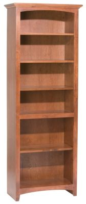 Whittier Wood McKenzie 6-Shelf 26.5-Inch Cherry Bookcase