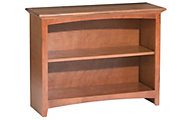 Whittier Wood McKenzie 2-Shelf 38.5-Inch Cherry Bookcase