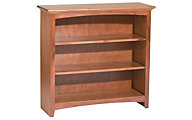 Whittier Wood McKenzie 3-Shelf 38.5-Inch Cherry Bookcase