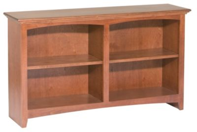 Whittier Wood Mckenzie 4-Shelf Short Bookcase