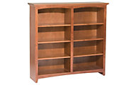 Whittier Wood McKenzie 8-Shelf 50.5-Inch Cherry Bookcase