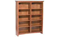 Whittier Wood Mckenzie 10-Shelf Cherry Tall Bookcase