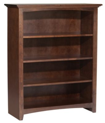 Whittier Wood Mckenzie 4-Shelf Coffee Short Bookcase