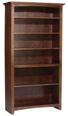 Whittier Wood Mckenzie 6-Shelf Coffee Tall Bookcase