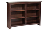 Whittier Wood McKenzie 6-Shelf 50.5-Inch Cherry Bookcase
