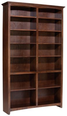 Whittier Wood Mckenzie 14-Shelf Cherry Tall Bookcase