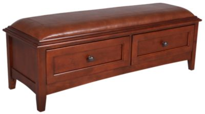Whittier Wood McKenzie 2-Drawer Storage Bench