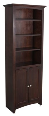 Whittier Wood McKenzie Bookcase with Doors