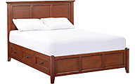 Whittier Wood McKenzie Cherry Queen Storage Bed
