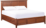 Whittier Wood McKenzie Cherry King Storage Bed
