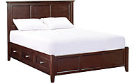 Whittier Wood McKenzie Cafe Queen Storage Bed