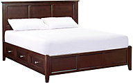 Whittier Wood McKenzie Cafe King Storage Bed