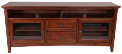 Whittier Wood McKenzie Solid Wood Media Console