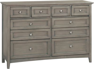 Whittier Wood McKenzie Fieldstone 10-Drawer Dresser