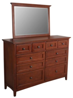 Whittier Wood McKenzie Dresser with Mirror
