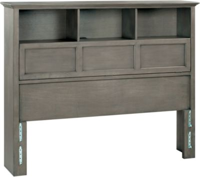 Whittier Wood McKenzie Fieldstone Queen Bookcase Headboard