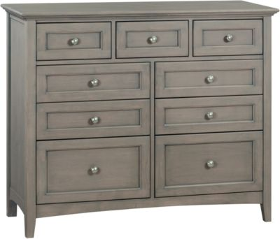 Whittier Wood McKenzie Fieldstone 9-Drawer Dresser