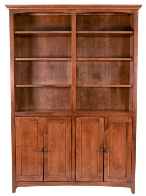 Whittier Wood Mckenzie Tall Bookcase with Doors