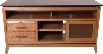 Whittier Wood Addi 54-Inch Solid Wood Media Console
