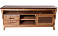 Whittier Wood Addi 64-Inch Solid Wood Media Console