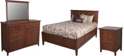 Whittier Wood McKenzie 4-Piece Queen Storage Bedroom Set