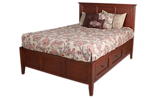 Whittier Wood McKenzie King Storage Bed