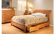 Whittier Wood Pacific 4-Piece King Storage Bedroom Set