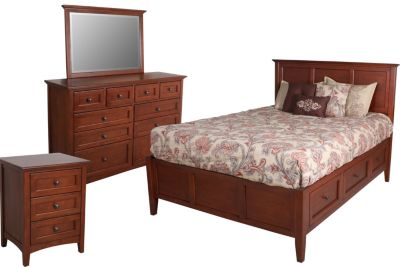 Whittier Wood McKenzie 4-Piece King Storage Bedroom Set