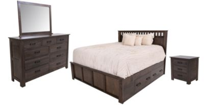 Witmer Furniture Kennan 4-Piece Queen Storage Bedroom Set
